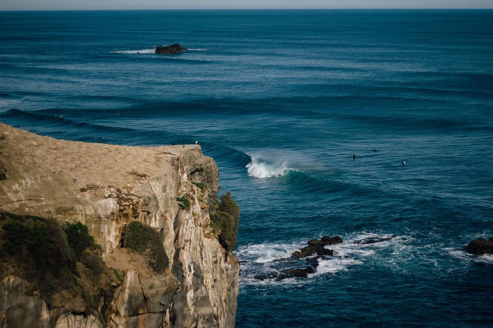 Sea, Ocean, Water, Waves, Nature, Rocks, Horizon, Blue