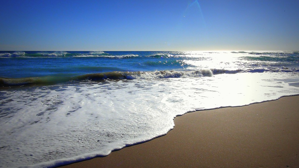 Beach, Sea, Sand, Wave, Horizon