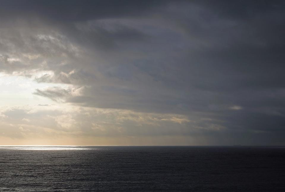 Sunrise, Sky, Sea, Horizon, Clouds, Dawn, Sunlight
