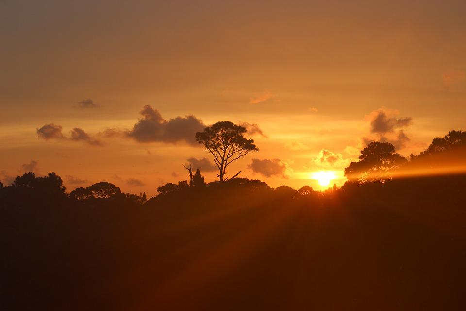 Sunset, Evening, Landscape, Light, Cloud, Sky, Horizon