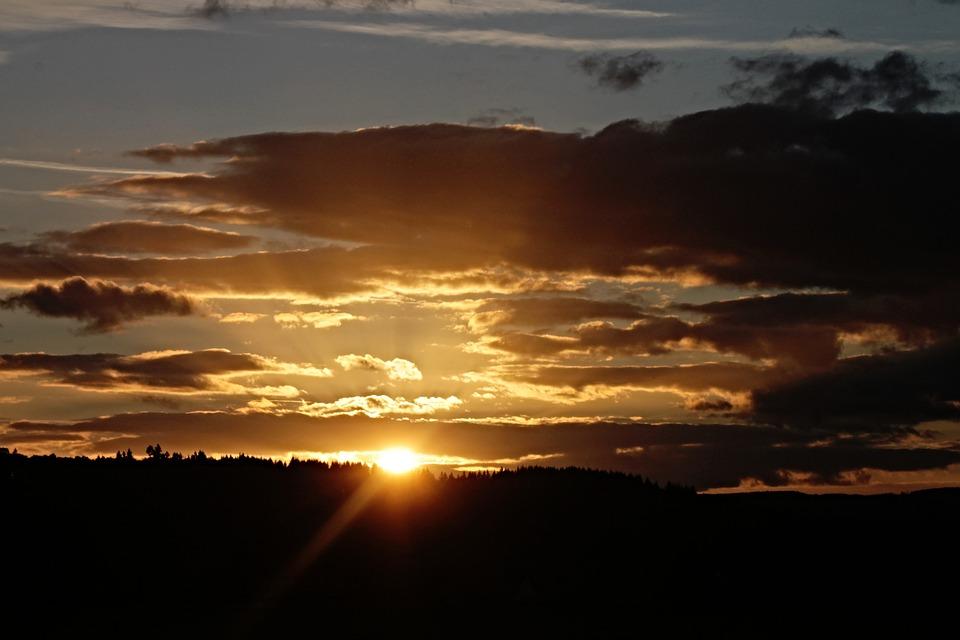 Sunset, Horizon, Twilight, Landscape, Evening Sky