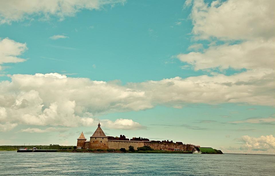 Burg, Insel, Island, Horizonte, Surf, Fortress, Tower