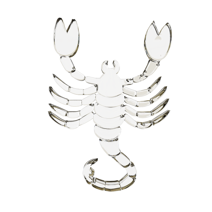 Glass Signs Of The Zodiac, Scorpion, Horoscope