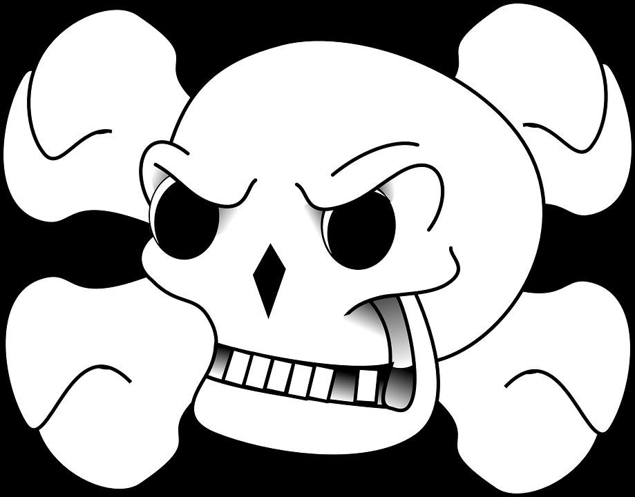 Skull, Crossbones, Danger, Horror, Warning, Sign