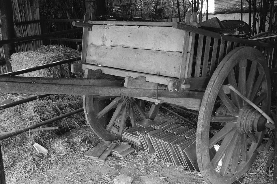 Cart, Oxcart, Horse Drawn Carriage, Wagon