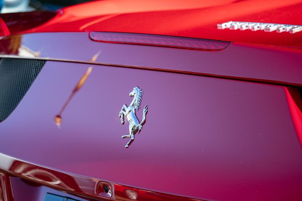 Ferrari, Logo, Car, Rear, Horse, Red