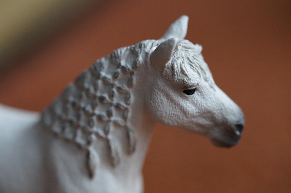 Horse, White, Horse Head, Portrait, Close, Mane, Woven
