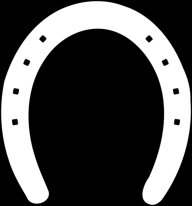 Horseshoe, Luck, Metal, Horse, Outline, Shoe