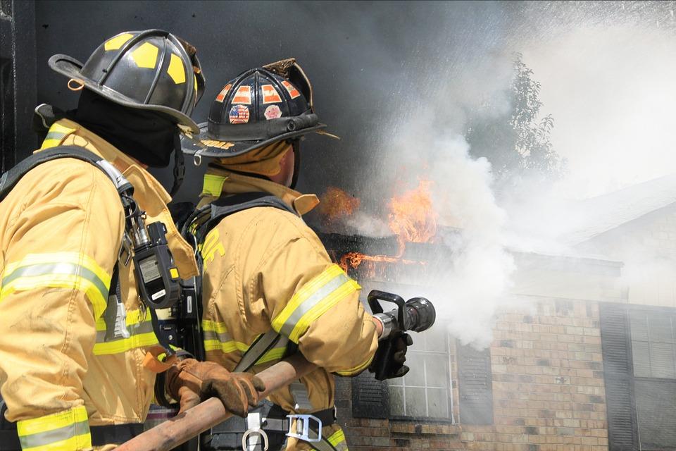 Firefighter, Fireman, Fire, First Responder, Hose