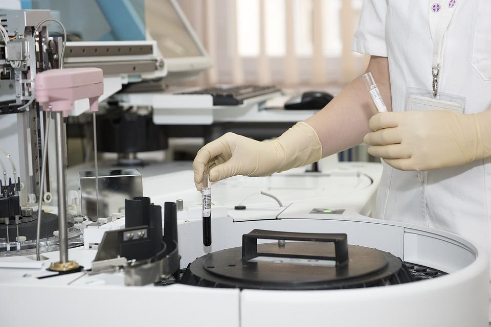 Laboratory, Test Tubes, Healthcare Worker, Hospital