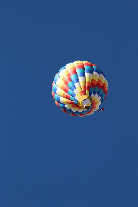 Hot Air Balloon, Flying, Sky, Ballooning