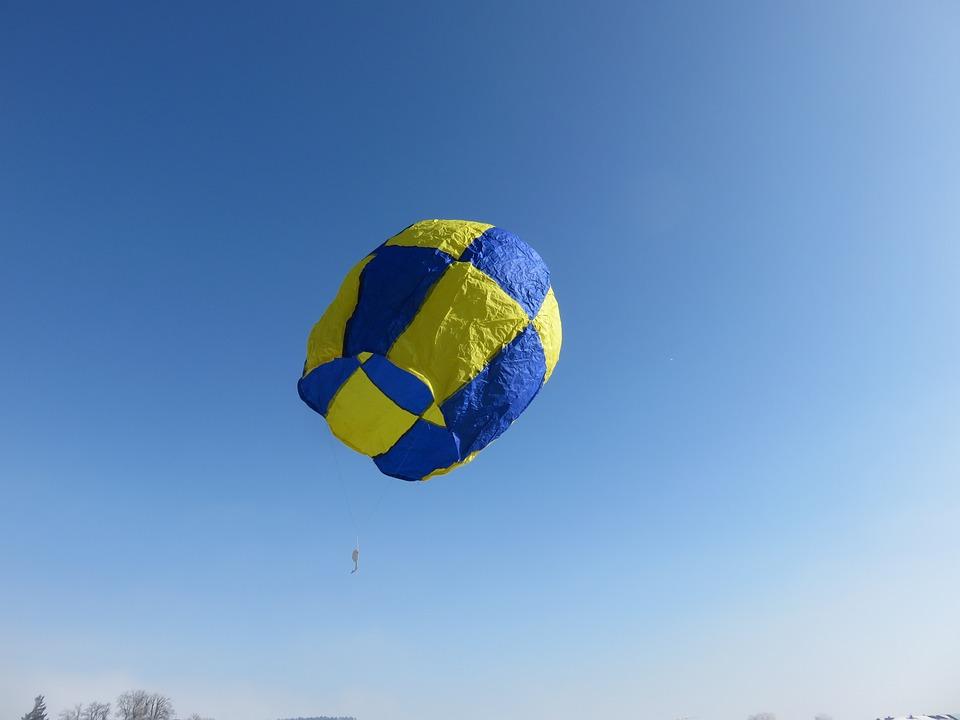 Balloon, Hot Air, Blue, Sky