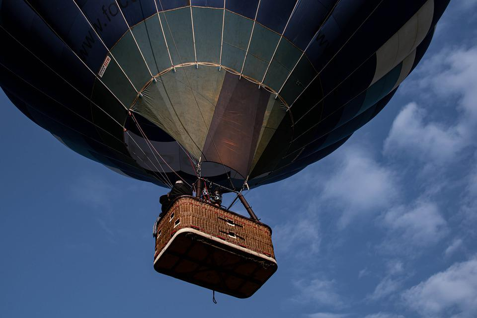 Hot Air Balloon, Flying, Sky, Floating, Basket, Gondola