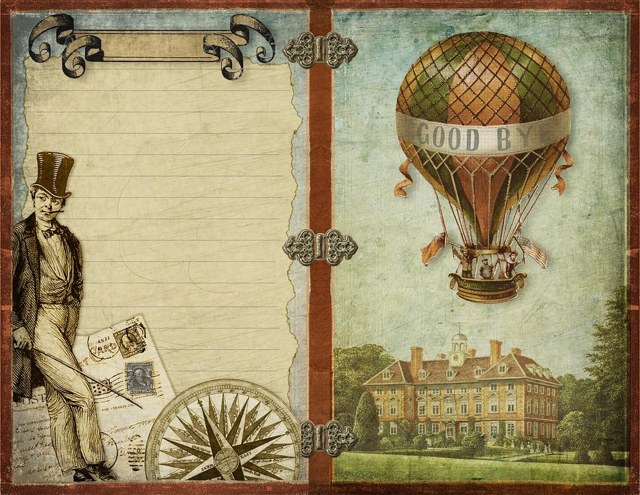 Vintage, Aviation, Complass, Hot Air Balloon