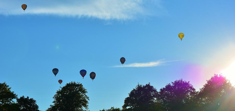 Hot Air Balloons, Blue, Sky, Balloons, Flying, Floating