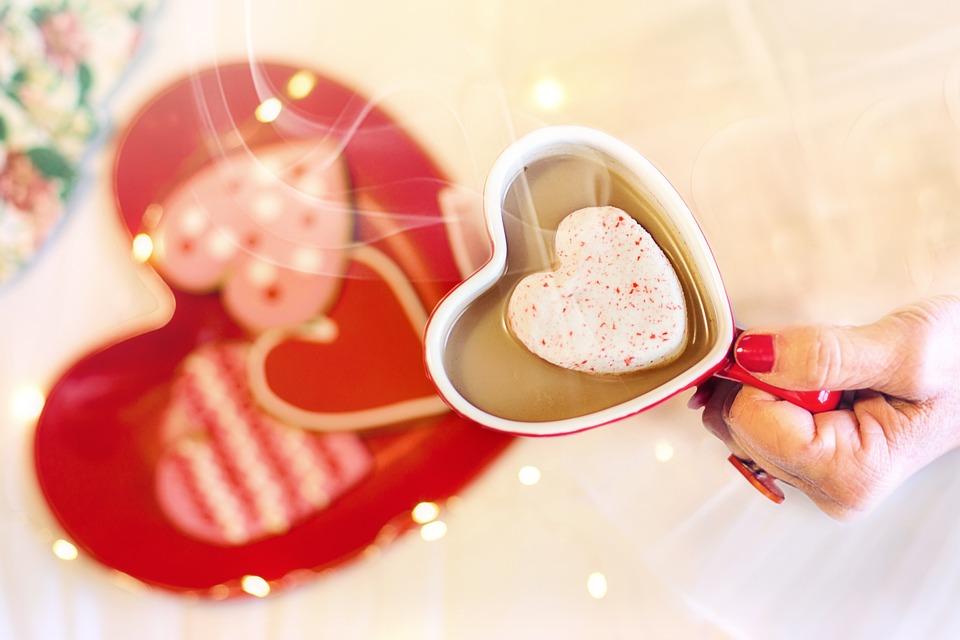 Valentine's Day, Valentine, Hearts, Mug, Hot Cocoa