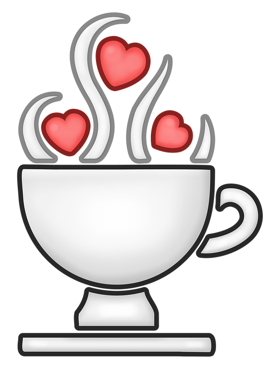Cup Of Coffee, Hearts, Container, Fret, Coffee, Hot