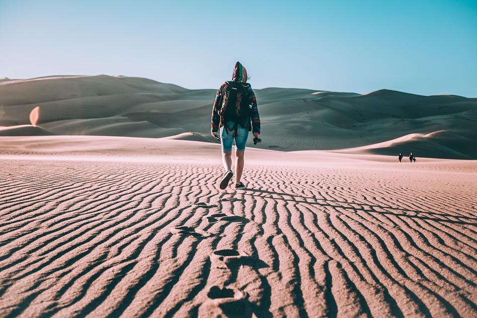 Adventure, Arid, Desert, Dry, Footprints, Hot