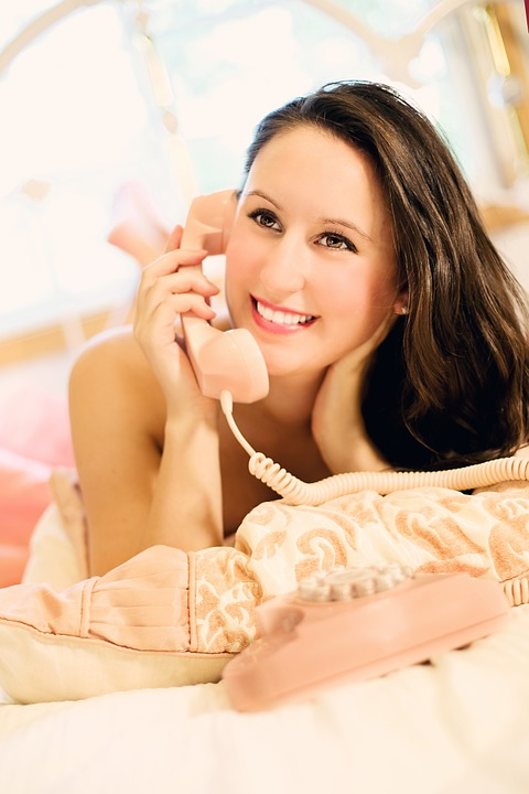 Woman, Pretty, Hot, Erotic, Telephone, Girl, Vintage