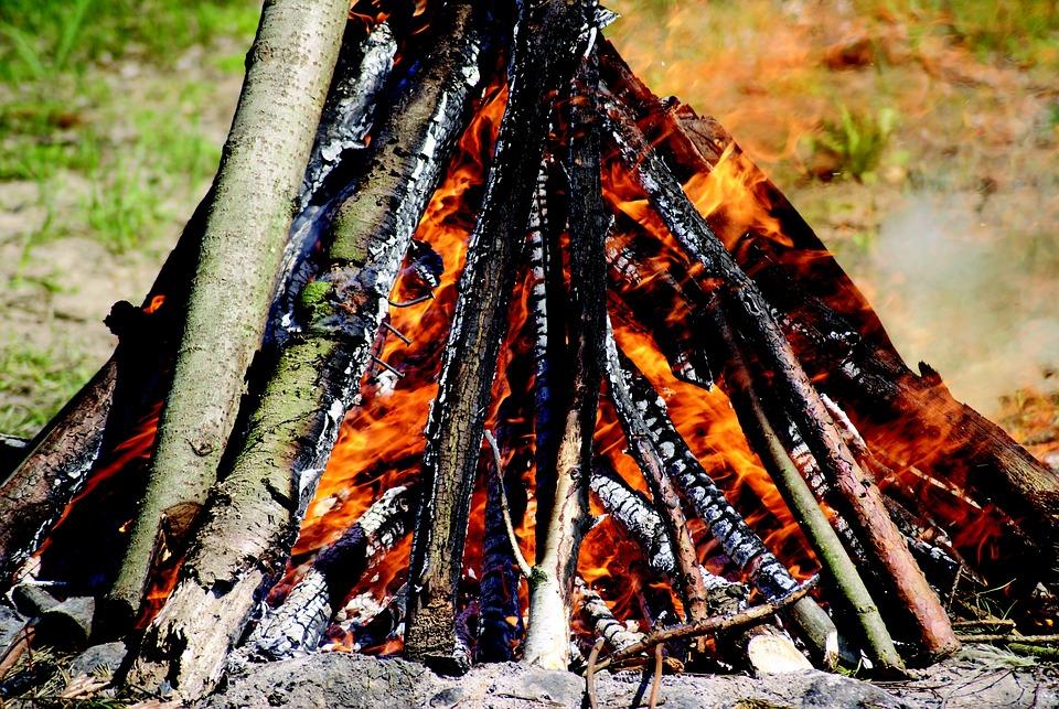 An Outbreak Of, Fire, Censer, Flames, Hot, Heat