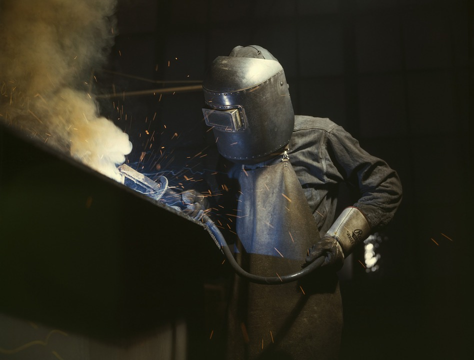 Weld, Welder, Steel, Industry, Face Protection, Hot