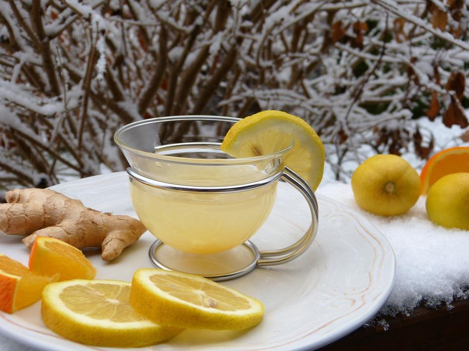 Ginger, Lemon, Orange, Snow, Hot Lemon, Juice, Tee