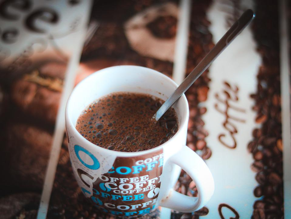 Kava, Mug, Spoon, Drink, Snidanok, Hot, Uzh, Piti