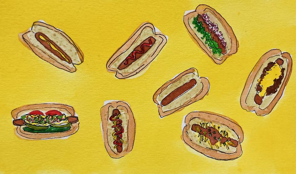 Hotdogs, Junk Food, Grill
