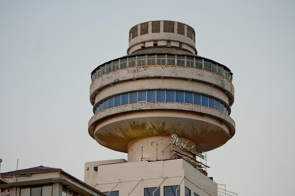 Hotel, Mumbai, Round, Architecture, Concrete, Bombay