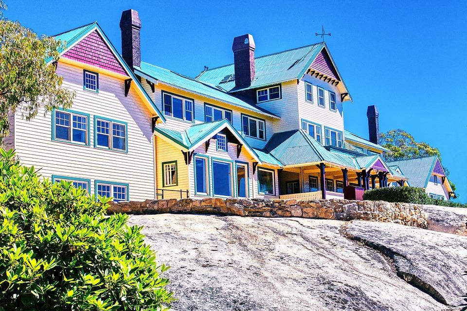 Chalet, Hotel, Summer, Resort, Mountain, Architecture