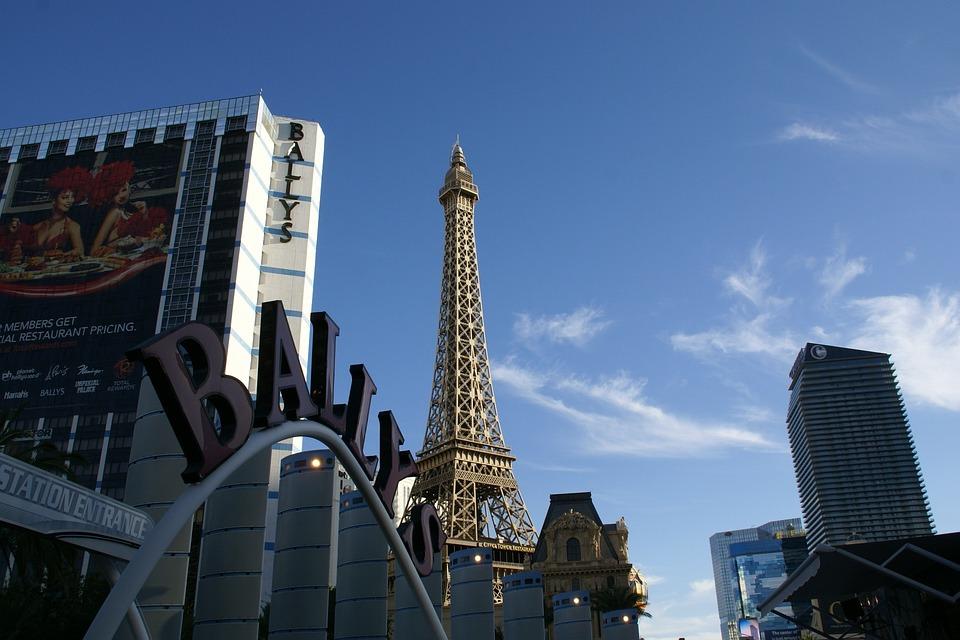 Ballys, Eiffel Tower, Las Vegas, Nevada, Hotel, Usa