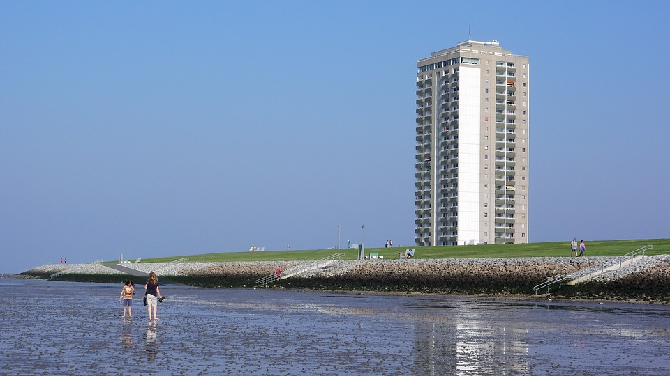 North Sea, Beach, Germany, Prefabricated House, Hotel