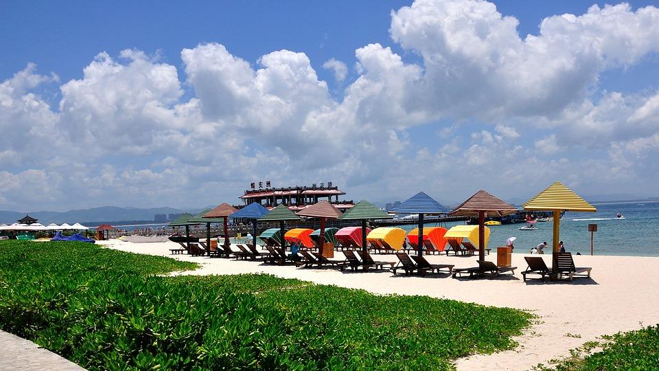 Blue Sky, White Cloud, Beach, Tourism, Hotel, Sunshine