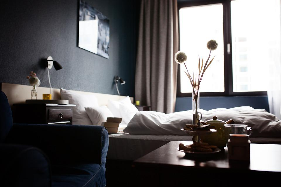 hotel hotel rooms decoration relax mood room bed - Black Hotel Decoration