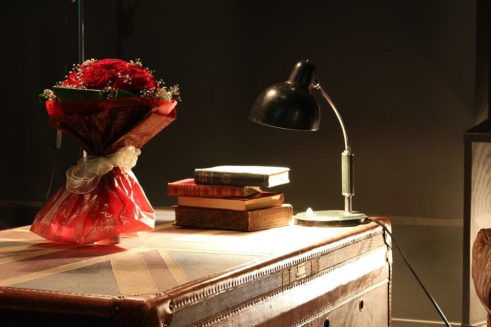 Hotel, Lobby, Flowers, Atmosphere, Ebook, Lamp