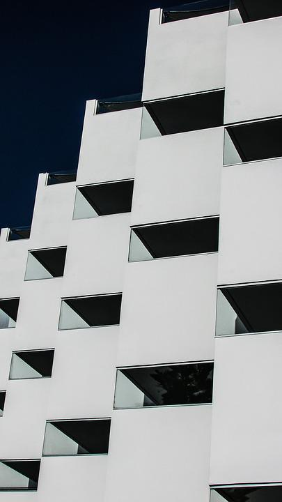 Hotel, Architecture, Geometry, Symmetry, Design, Modern
