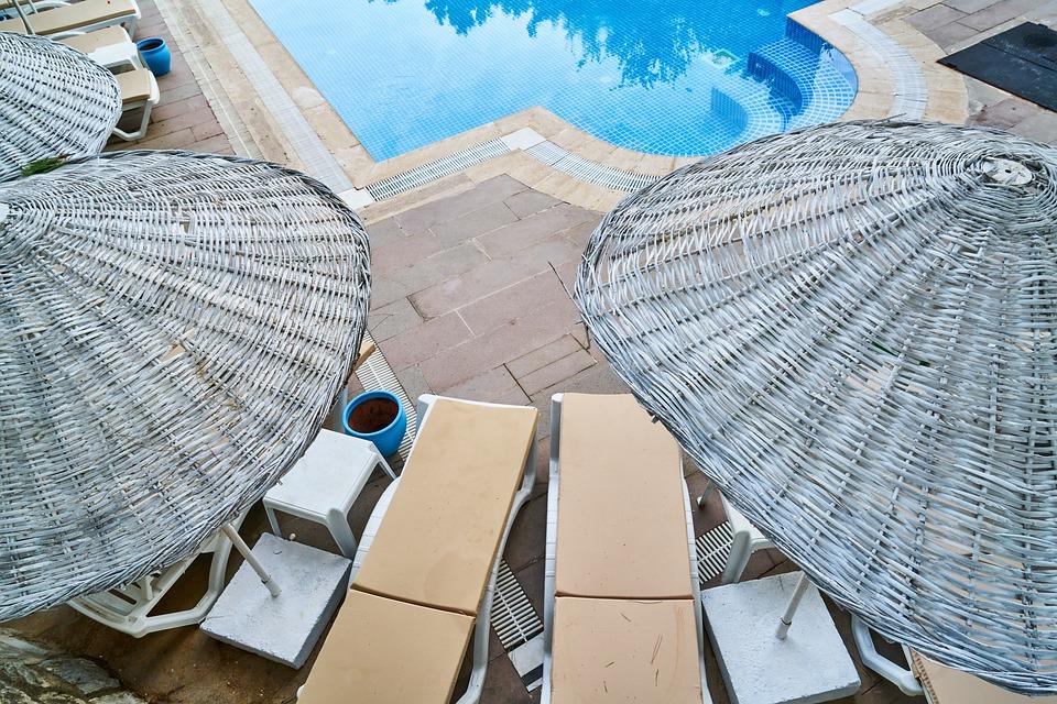 Pool, Umbrella, Hotel, Tourism, Tourist, Background