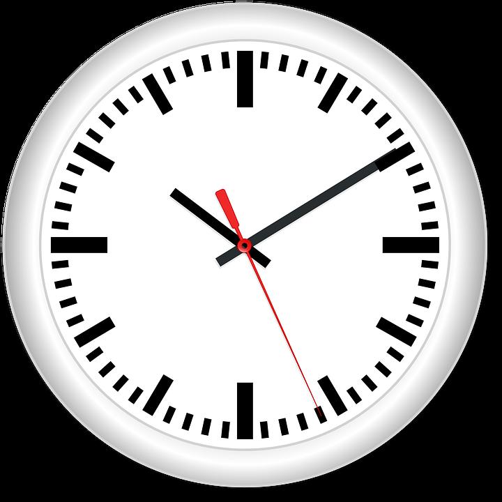 Clock, Time, Hands, Hour, White, Minute, Deadline