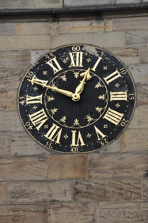 Clock, Roman Numerals, Hours, Antique, Time, Pointer
