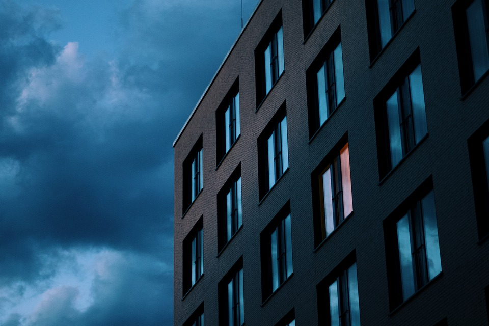 House, Architecture, City, Sky, Clouds, Hotel, Building