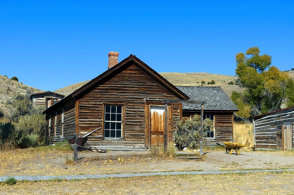 Bannack Abandoned House, Bannack, House, Ghost, Town