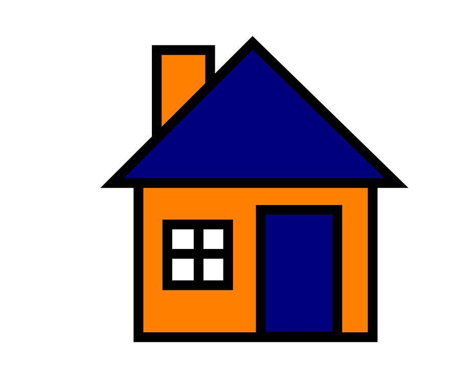 House, Blue, Orange