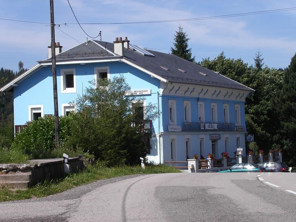 Blue, House, Vosges
