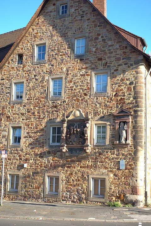 Kassel, House, Facade, Building, Wall, Window, Input