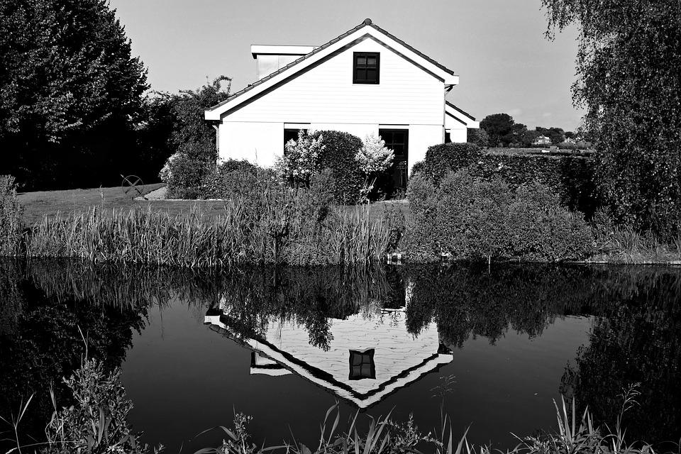 House, Building, Structure, Reflection, Water, Symmetry