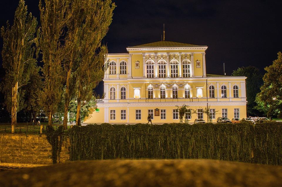 Rifle Island, Prague, Night, City, History, House