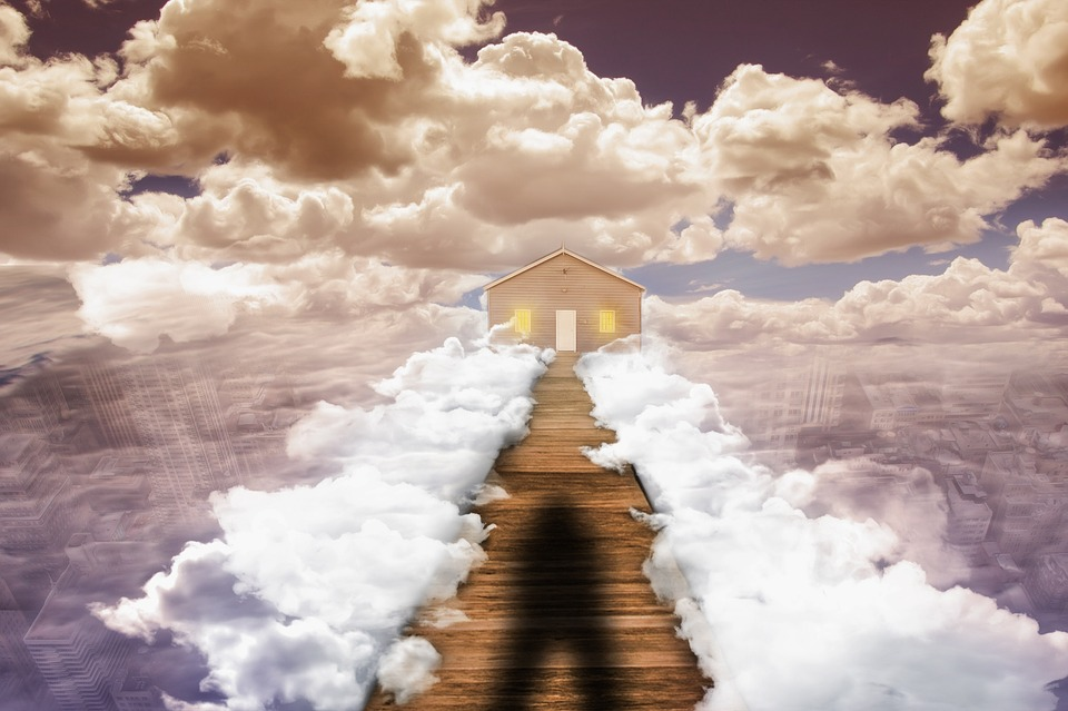 Clouds, Sky, Above The Clouds, Photoshop, House, Web