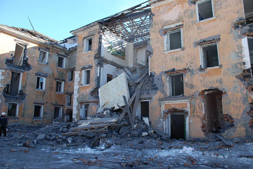 House, Building, Demolition, Collapse, Architecture