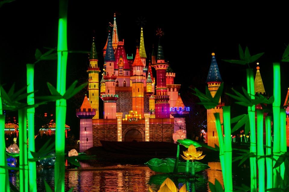 Light, Castle, Night, Dark, Attraction, House, Palace
