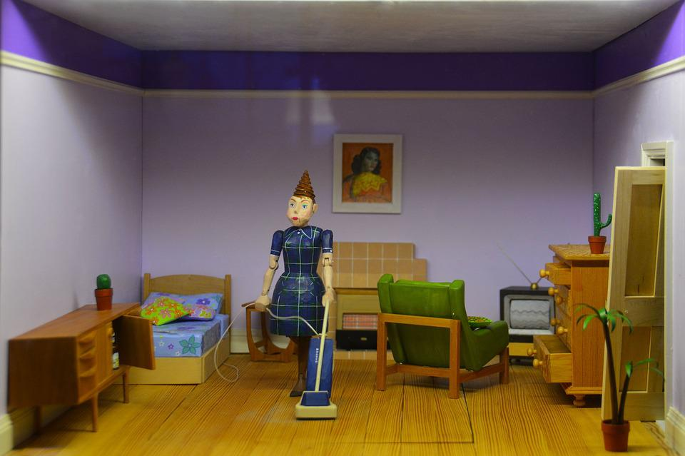 Doll House, Figurine, Doll, House, Toy, Model, Home